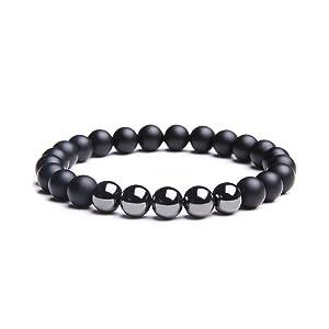Black Onyx Stone and Hematite Stretch