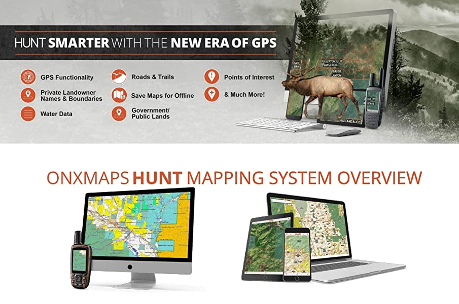 Amazoncom OnXmaps HUNT Colorado Digital Hunting Map For Garmin - Us map of private property