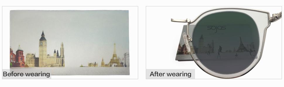 SojoS Fashion Polarized Sunglasses for Women UV400 Mirrored Lens SJ1057