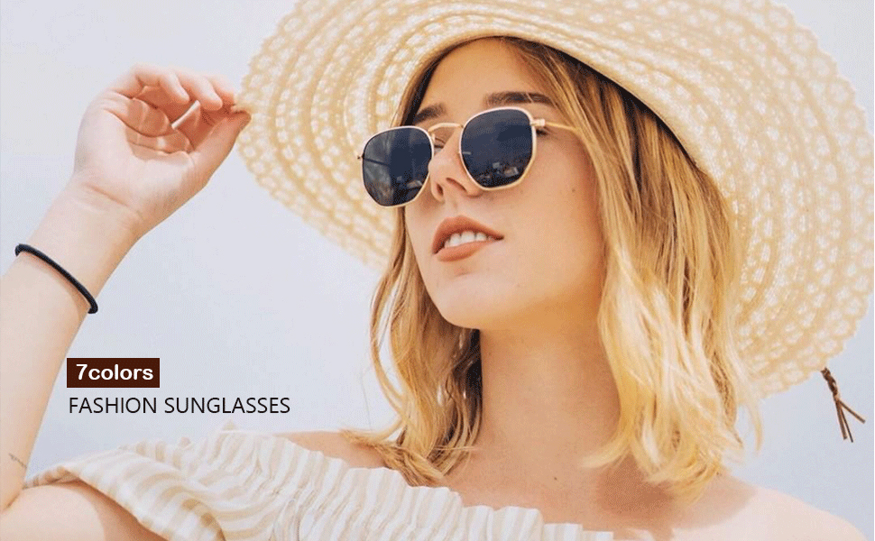 504932718d SOJOS Small Square Polarized Sunglasses for Men and Women Polygon ...