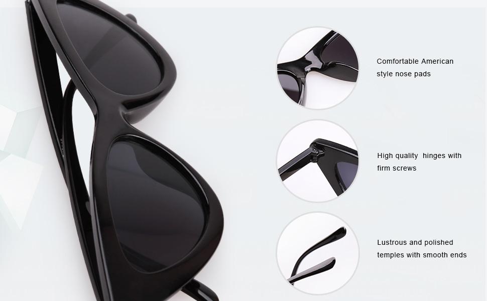 9f13f03495e SojoS Clout Goggles Cat Eye Sunglasses Vintage Mod Style Retro Kurt Cobain  Sunglasses SJ2044
