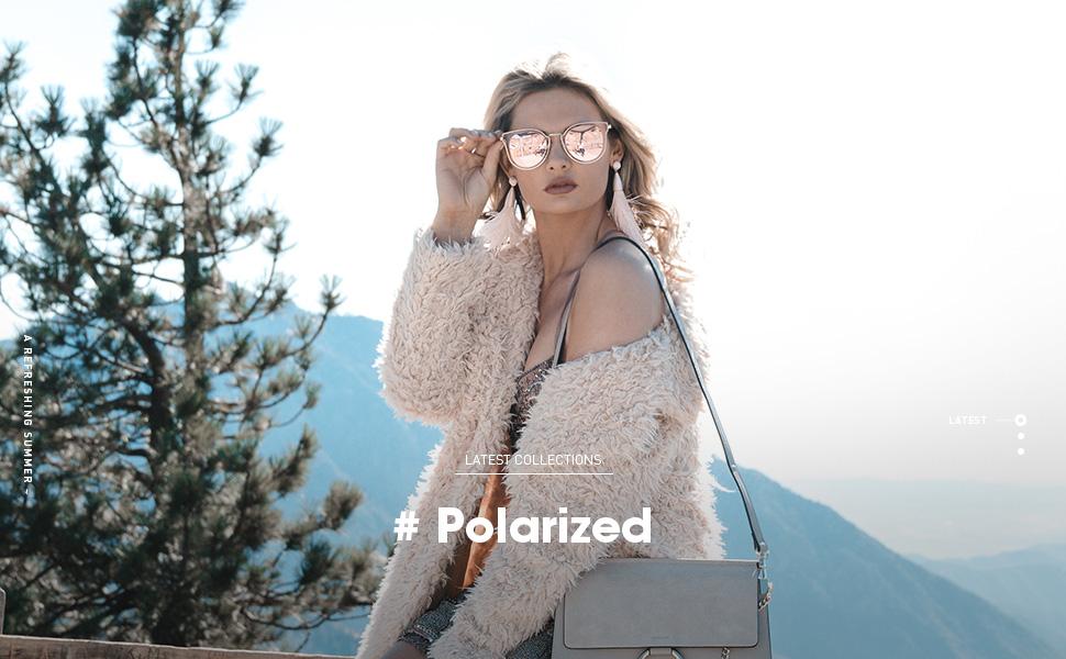 2668de6438 Amazon.com  SOJOS Fashion Polarized Sunglasses for Women UV400 ...