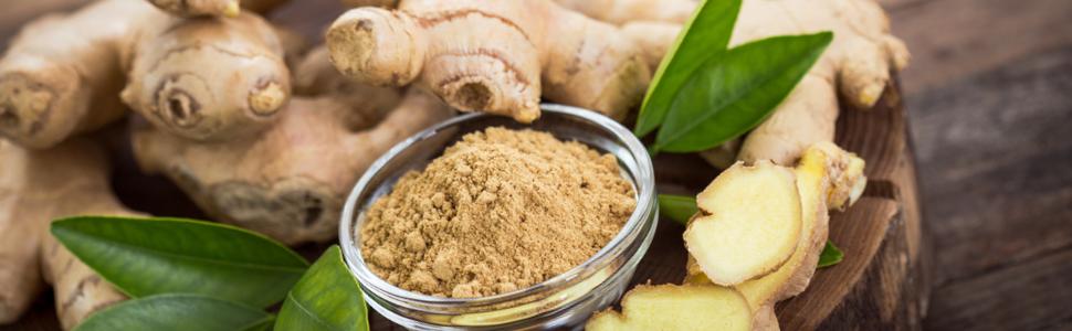 Ginger root powder capsule