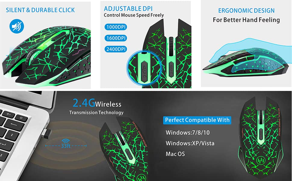 light up wireless mouse