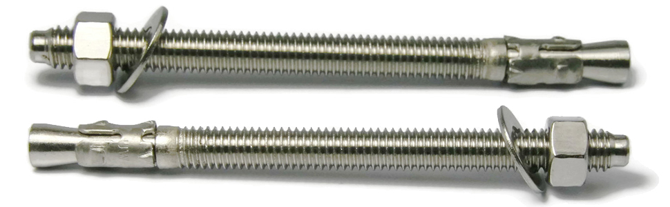 Wedge Anchor 304 Stainless Steel 3//8-16 x 2-3//4 Qty-10