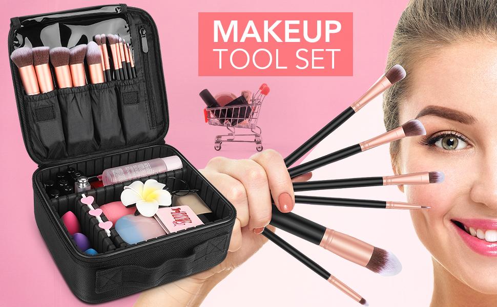 travel makeup tool set