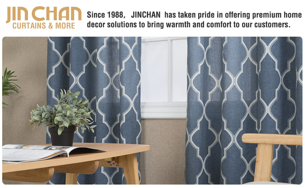 Moroccan tile curtains