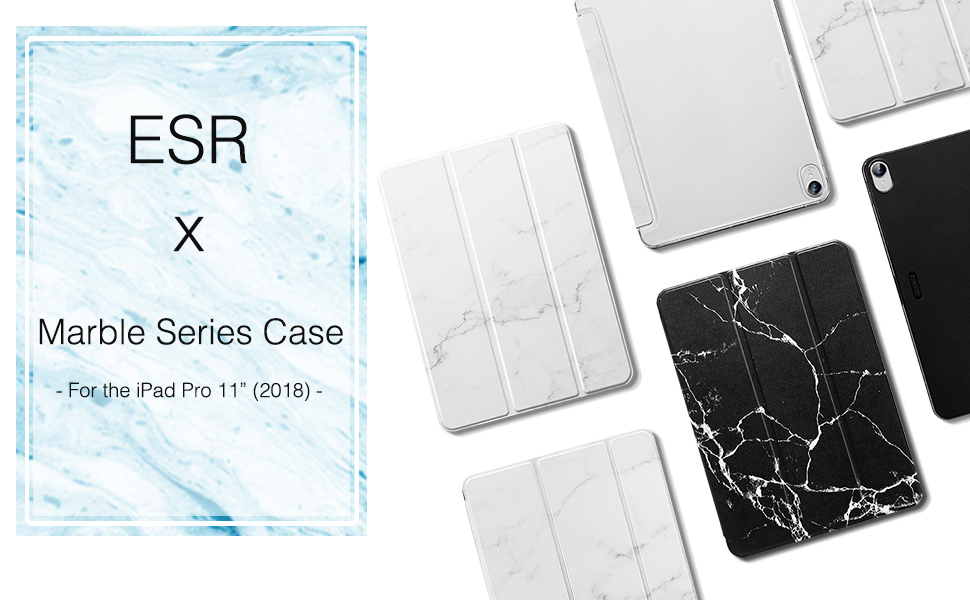 esr marble series case for the ipad pro 11 2018