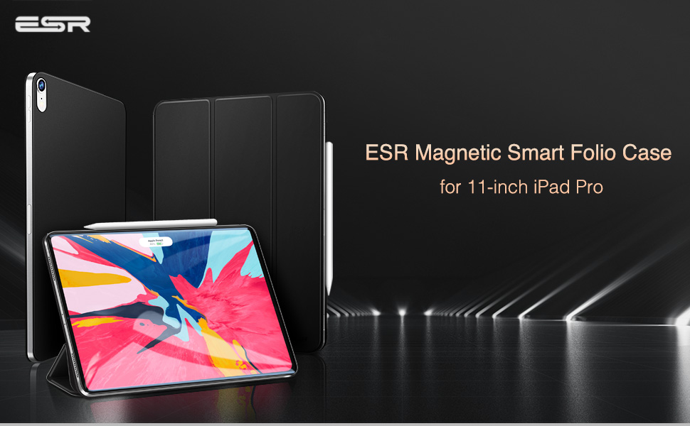 ESR Magnetic smart folio case for the ipad pro 11 2018