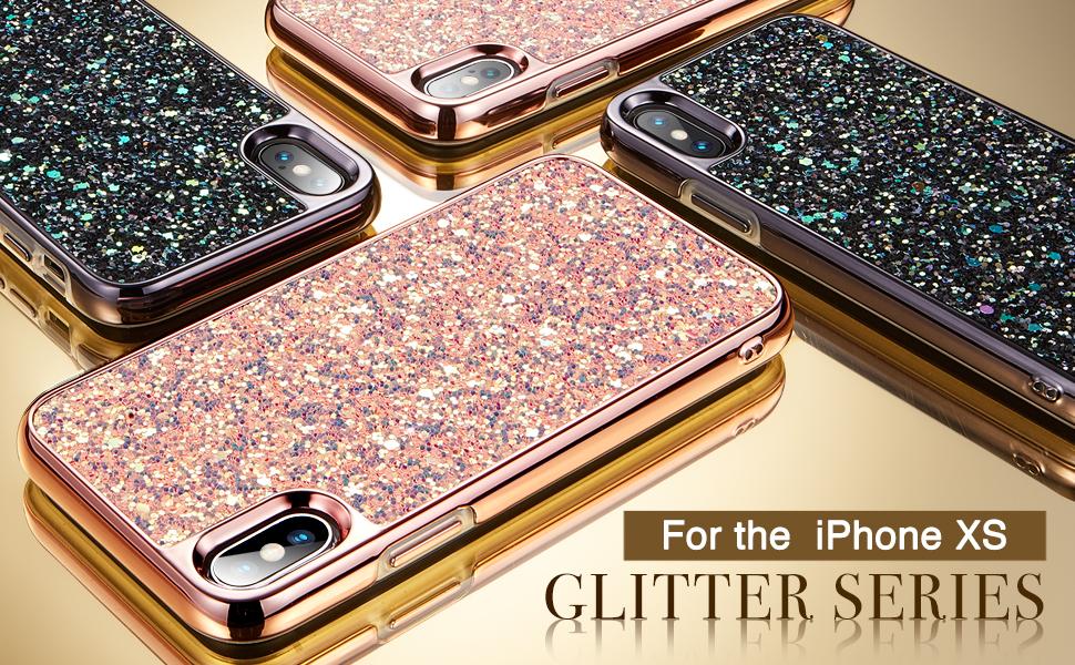 iphone xs glitter case iphone x glitter case 2017 2018 5.8 inch