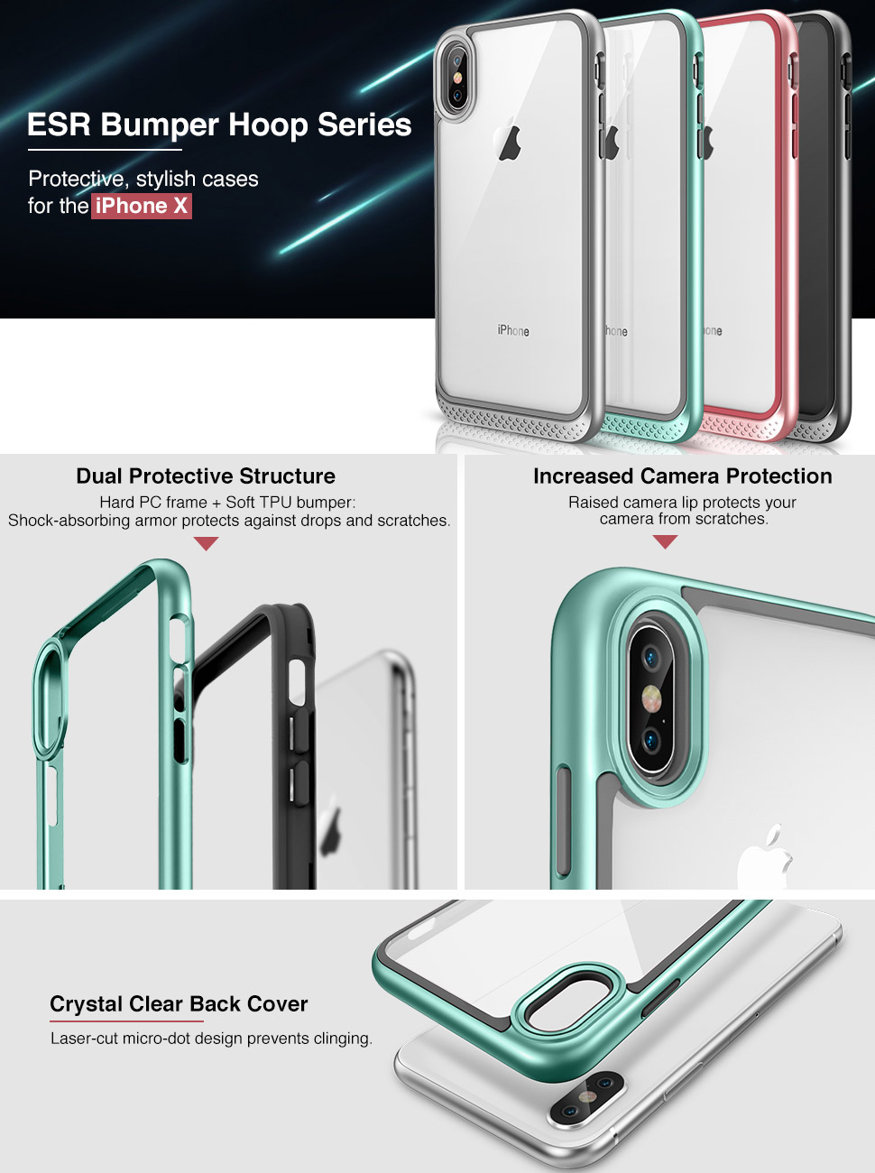 iphone x case, iphone x clear case, iphone x heavy duty case