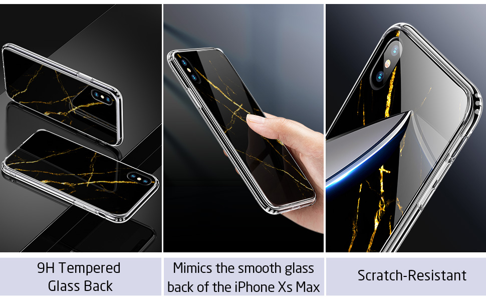 iphone xs max marble glass case 6.5 inch 2018