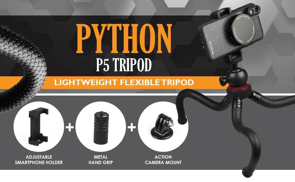 "12"" Flexible Mini Tripod with Universal Phone Holder"