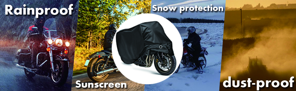 Motorcycle Cover Outdoor Waterproof Rustproof Sunscreen Storage Bag Tear-proof Durable Protection Sport bike Scooter Shelter 2XL