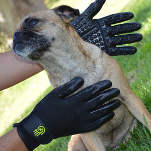 HandsOn Gloves for Shedding, Bathing, Grooming, Dog, Cat, Horse, Livestock, Large Pet, Small Pet
