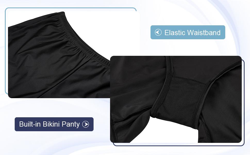 81b17a2c46785 Sociala Women's Plus Size Swim Shorts High Waisted Swimsuit Bottoms ...
