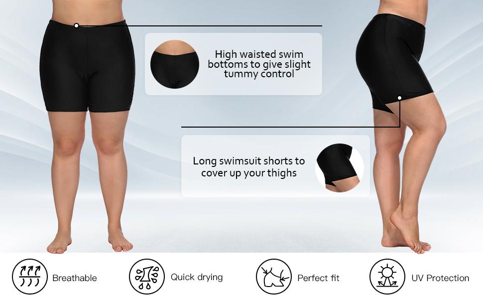 14d1fe9939 womens swim shorts. womens Boardshorts. Sociala Womens Plus Size High  Waisted ...