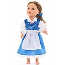 4dd67946e4d3 yellow beauty belle blue day doll dress costume beauty and the beast