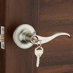 Cerradura de puerta con llave para puerta de entrada HENYIN 805SN-L
