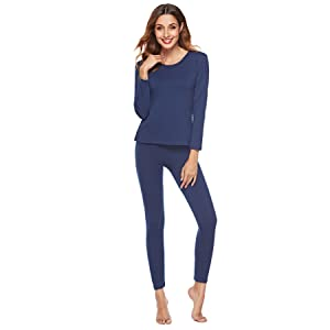 EFINNY Women two pieces thermal underwear Set Long John Set for girl lady ef7d80ed7