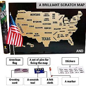 Amazon Com Outformal Scratch Off Map Of America Stylish Us Map