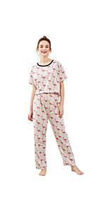 d3774381d2 SheIn Women's Summer Cartoon Cat Print Short Sleeve Pajamas Set Pink · SheIn  Women's Polka Dot Cactus Lip Print Short Sleeve Pajama Set White# ...