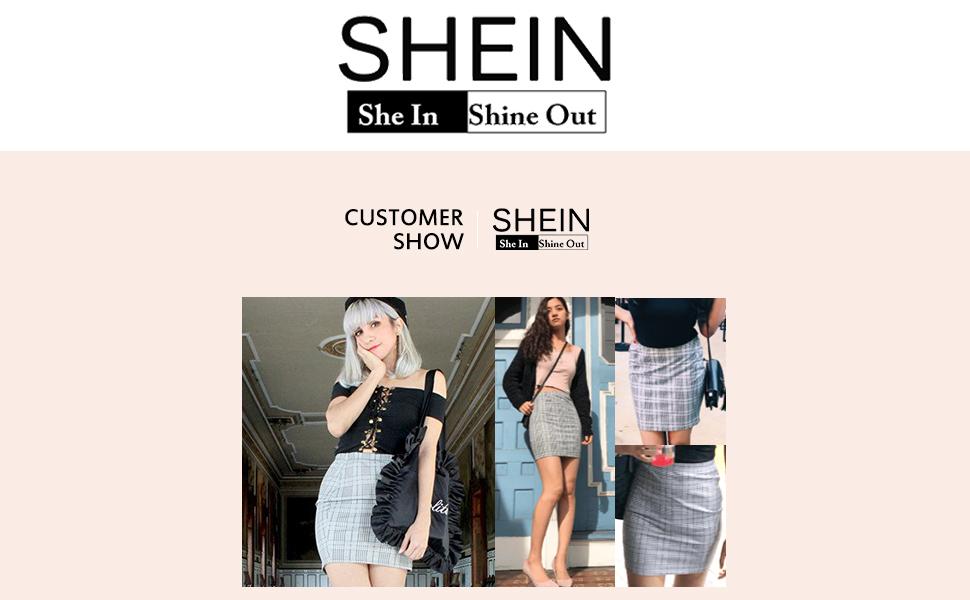 Basic Plaid Mini Bodyconl Skirt