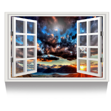 Cloudy Sunset Landscape Picture Wall Decor