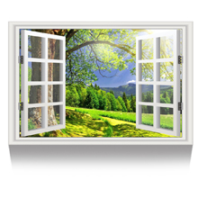Big Green Tree Picture Wall Decor