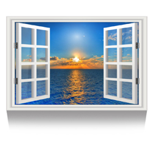 1.Sunset on the Sea