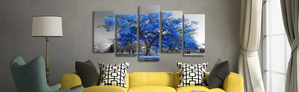 Large tree wall art for living room office decor ready to hang