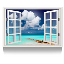 Teal Seascape Picture Wall Decor