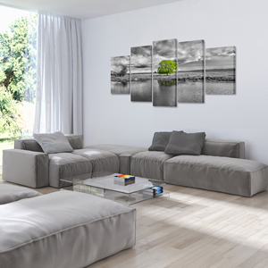 canvas paintings wall art 5 piece trees