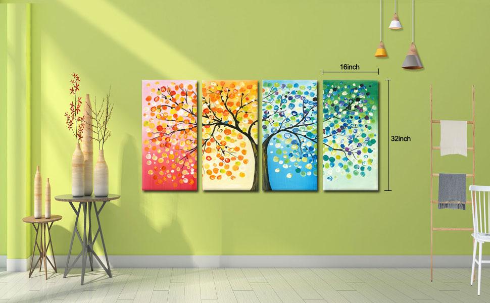 Amazon Com Kreative Arts 4 Seasons Colorful Lucky Tree