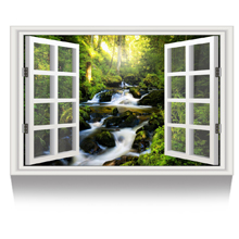 waterfall forest Picture Wall Decor Stretched Giclee Print Gallery Wrap