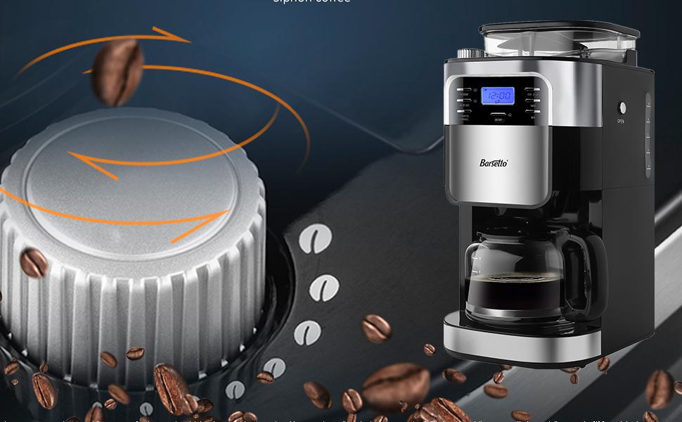 Cafetera Mini Cafetera profesional de aluminio M/áquina de caf/é de estilo retro reutilizable M/áquina de caf/é expreso de precisi/ón espesa para la oficina en casa Cafeter/ía Negro