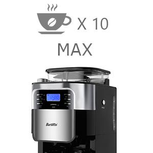 Amazon.com: Barsetto Grind and Brew - Cafetera automática ...