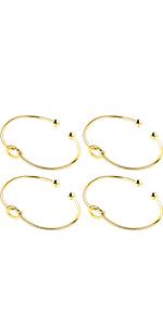 Set of 3 4 5 6 7 8 ANBALA Love Knot Bangle Bracelet Bridesmaid Gifts Bracelets Tie The Knot Cuff Bangle Stretch Bracelet for Bridesmaid Rose Gold Tone