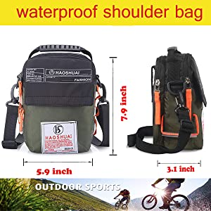 ce5bd4ade9 Amazon.com  JAKAGO Waterproof Shoulder Bag Universal Small Messenger ...