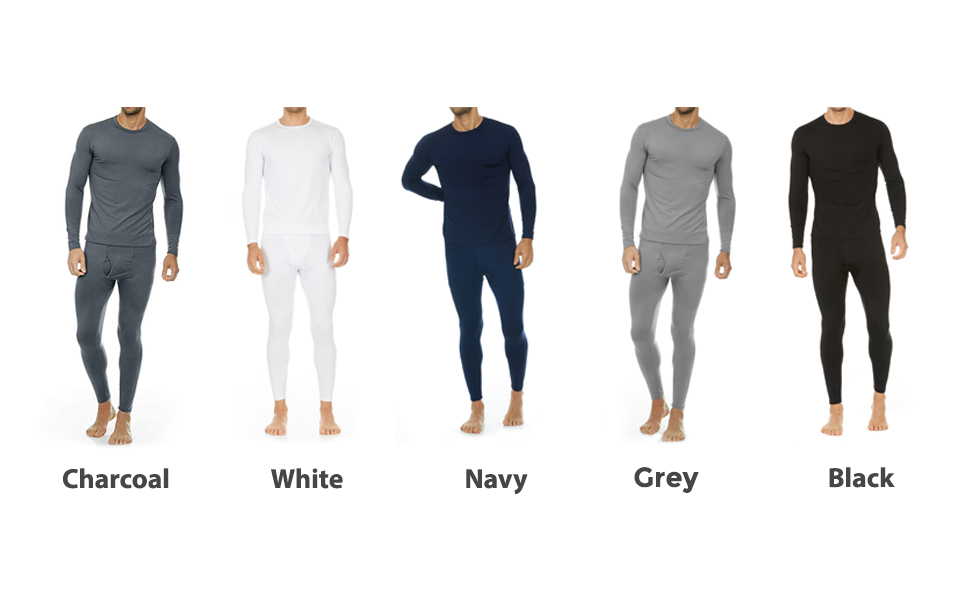 Mens thermal underwear set is available in white, purple, pink, red, grey and many colors