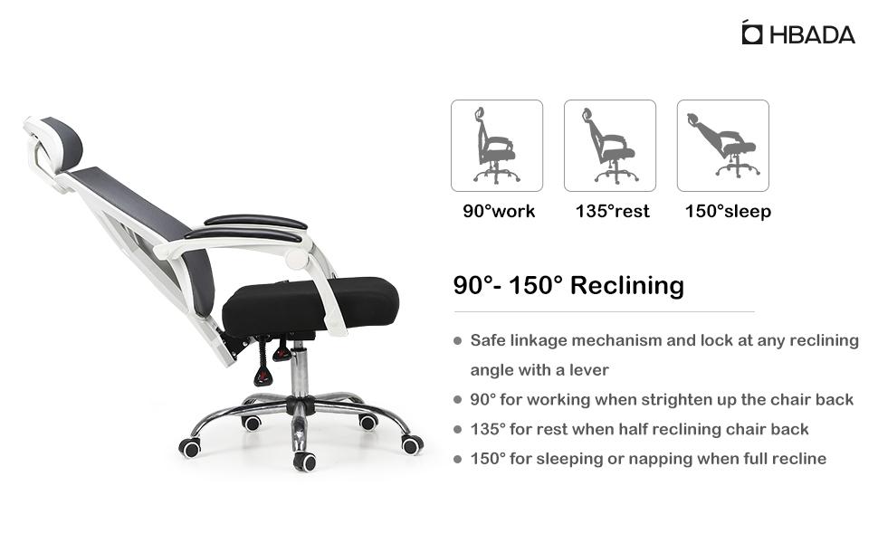 amazon com hbada ergonomic office chair modern high back desk