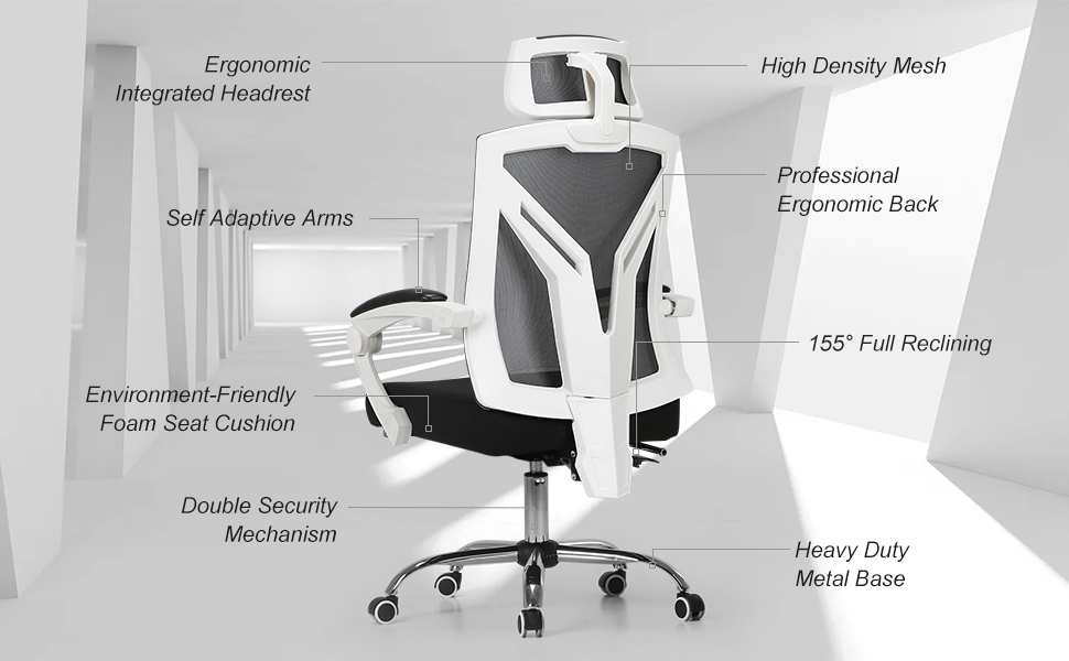 With Its Top Production Lines From German And Italy Hbada Only Employs The Most Environmentfriendly Materials In Ergonomic Office Chairs