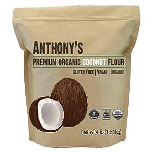 Anthony's Organic Coconut Flour, 4 lb, Batch Tested Gluten Free, Non GMO, Vegan, Keto Friendly 11
