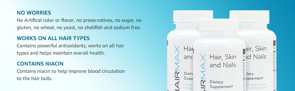 No Worries, Works on All Hair Types, Contains Niacin