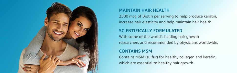 Maintain Hair Health, Scientifically Formulated, Contains MSM