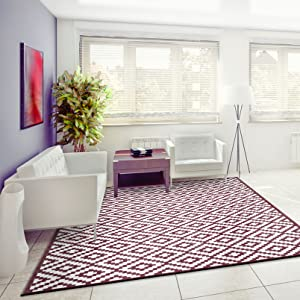Red outdoor rug