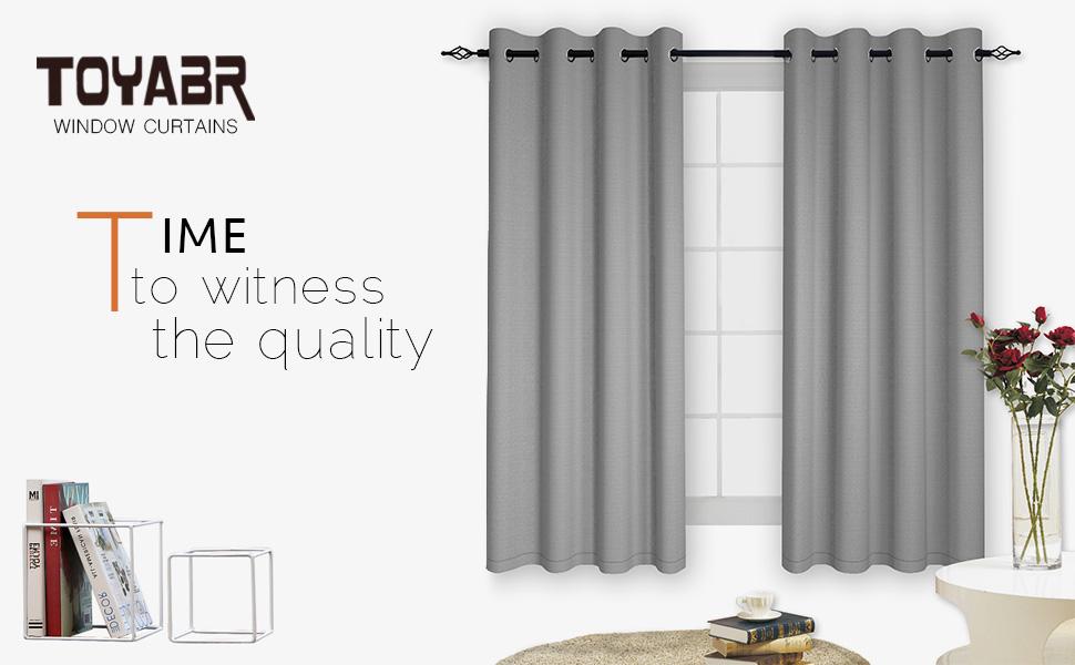 Amazon.com: TOYABR 1 Panel Pure Cotton Canvas Fabric Blackout Room ...