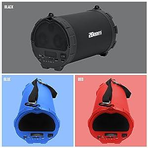 2BOOM BX390 Bass King Wireless Bluetooth Portable Outdoor Boombox Speaker,  5