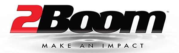 2BOOM Make an impact loud music clear sound heavy bass boom dynamic sub woofers speakers portable