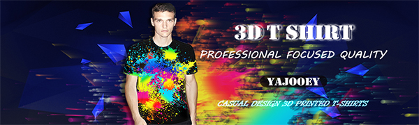 YAJOOEY Unisex 3D Pattern Printed Short Sleeve T-Shirts Casual Graphics Tees